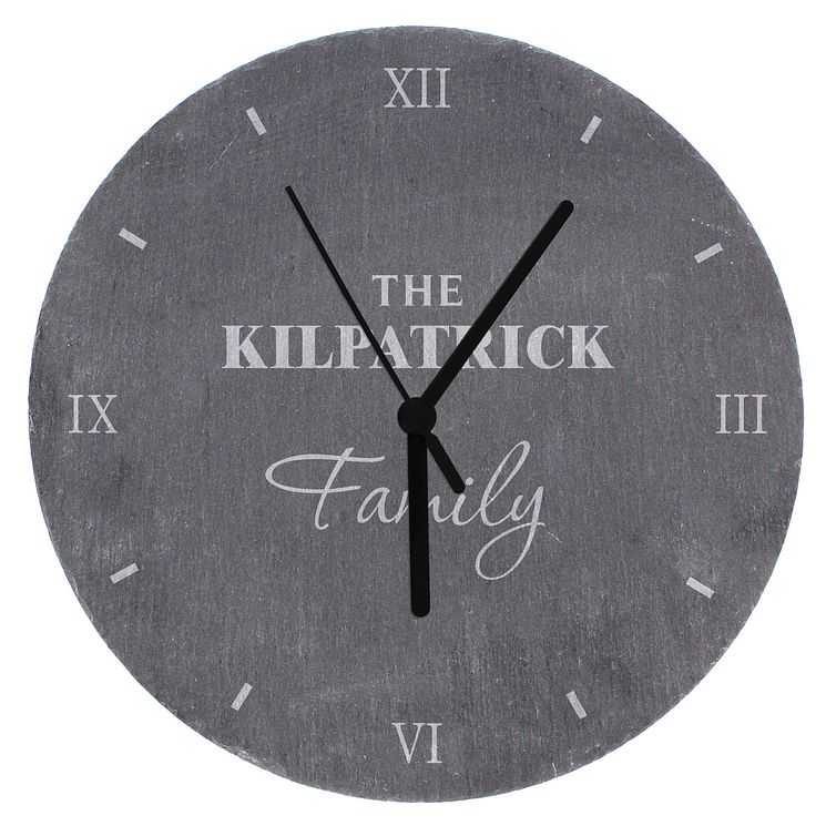 Family Slate Clock - Product number 4099184