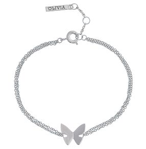 Olivia Burton Rhodium Plated Butterfly Bracelet - Product number 4102207