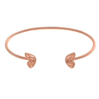 Olivia Burton Rose Gold Metal Plated Butterfly Wing Bangle - Product number 4102223