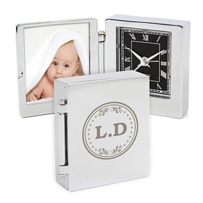 Monogram Photo Frame Travel Clock 4.5cm x 5cm - Product number 4102517