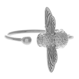 Olivia Burton 3D Rhodium Plated Ring - Product number 4102924
