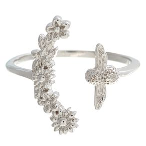 Olivia Burton Bee Blooms Rhodium Plated Ring - Product number 4102983