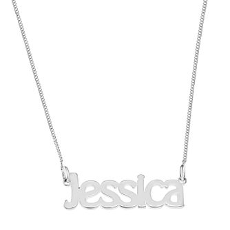 Sterling Silver Jessica Nameplate Necklace - Product number 4104706