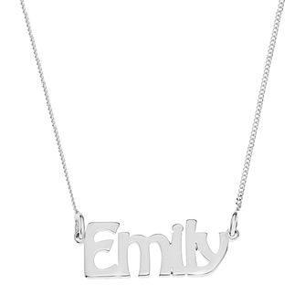Sterling Silver Emily Nameplate Necklace - Product number 4104714