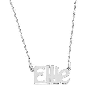 Sterling Silver Ellie Nameplate Necklace - Product number 4104749
