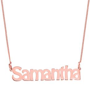 Rose Gold Plated Silver Samantha Nameplate Necklace - Product number 4105087