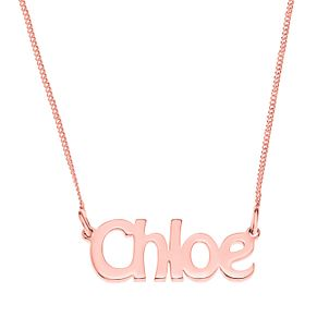 Rose Gold Plated Silver Chloe Nameplate Necklace - Product number 4105125