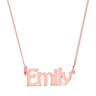 Rose Gold Plated Silver Emily Nameplate Necklace - Product number 4105222