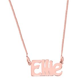 Rose Gold Plated Silver Ellie Nameplate Necklace - Product number 4105230