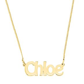 Gold Plated Silver Chloe Nameplate Necklace - Product number 4105753
