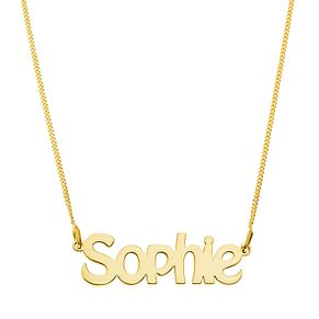 Gold Plated Silver Sophie Nameplate Necklace - Product number 4105826