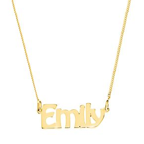 Gold Plated Silver Emily Nameplate Necklace - Product number 4105850