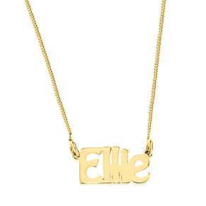 Gold Plated Silver Ellie Nameplate Necklace - Product number 4105877