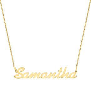 Gold Plated Silver Samantha Italics Nameplate Necklace - Product number 4105966