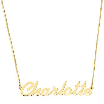 Gold Plated Silver Charlotte Italics Nameplate Necklace - Product number 4105982