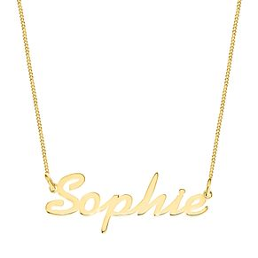 Gold Plated Silver Sophie Italics Nameplate Necklace - Product number 4106067