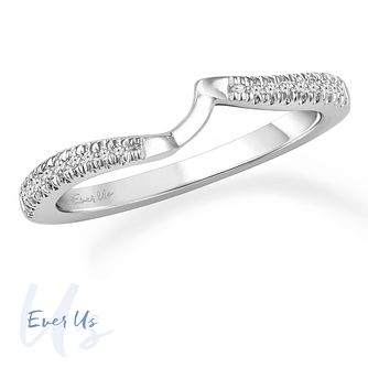 Ever Us 14ct White Gold 0.10ct Diamond Shaped Band - Product number 4109147