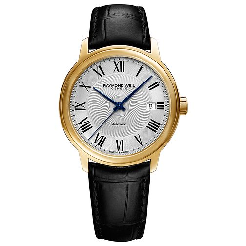 Raymond Weil Maestro Men's Gold Plated Strap Watch - Product number 4109988