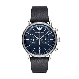 Emporio Armani Men's Chronograph Black Strap Watch - Product number 4114825