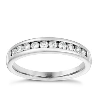 18ct White Gold 0.33ct Diamond Eternity Ring - Product number 4115007