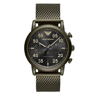 Emporio Armani Men's Chronograph Black Bracelet Watch - Product number 4115783