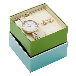 Kate Spade Holland Rose Gold Tone Watch and Earring Set - Product number 4116399