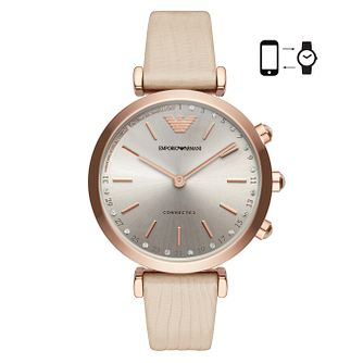 Emporio Armani Connected Ladies' Stone Set Hybrid Smartwatch - Product number 4116550