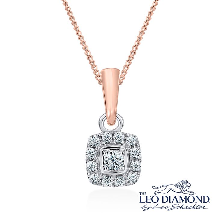 Leo Diamond 18ct rose gold 0.20ct I-I1 pendant - Product number 4117131