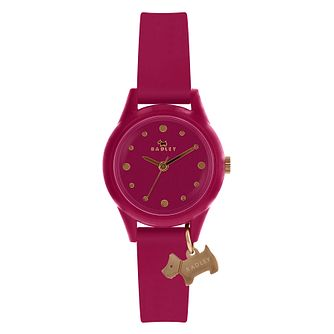 Radley 'Watch It!' Ladies' Pink Silicone Strap Watch - Product number 4120825