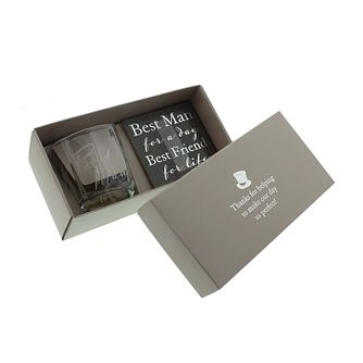 Best Man Whisky Glass & Coaster - Product number 4127765
