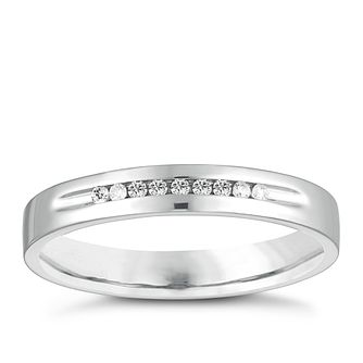 9ct White Gold Diamond Channel Set Wedding Ring - Product number 4143388