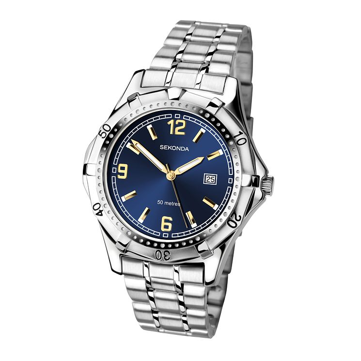 Sekonda Men's Blue Dial Stainless Steel Bracelet Watch - Product number 4146956