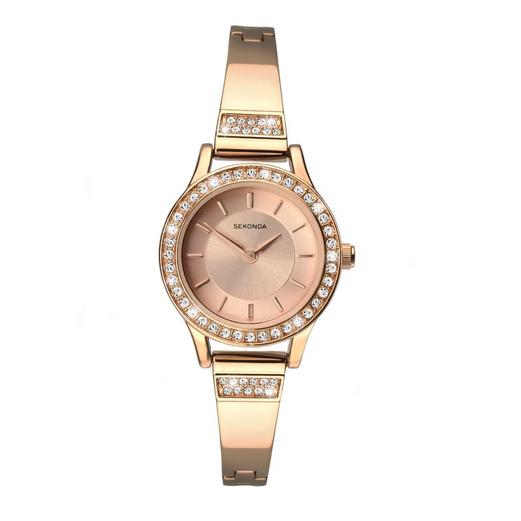 Sekonda Ladies' Rose Gold Plated Bracelet Watch - Product number 4147456