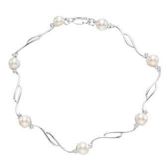 Sterling Silver Cultured Freshwater Pearl Bracelet - Product number 4147685