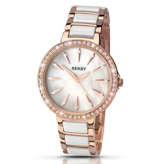 Sekonda Seksy Rose Gold-Plated Two Toned Bracelet Watch - Product number 4155440