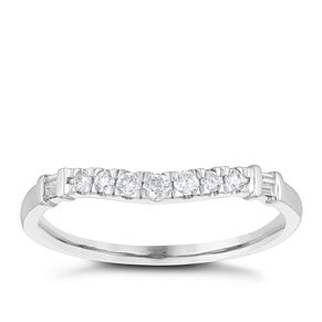 Platinum 0.15ct Seven Diamond Shaped Wedding Ring - Product number 4155947