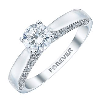 18ct White Gold 1 Carat Forever Diamond Ring - Product number 4157206