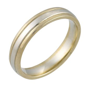 9ct Two Colour Gold Ladies' Wedding Ring - Product number 4163095
