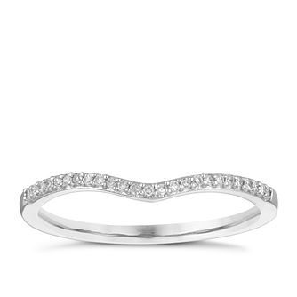 18ct White Gold Shaped Diamond Wedding Ring - Product number 4165128