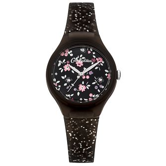 Cath Kidston Ladies' Silver Glitter Silicone Strap Watch - Product number 4166205