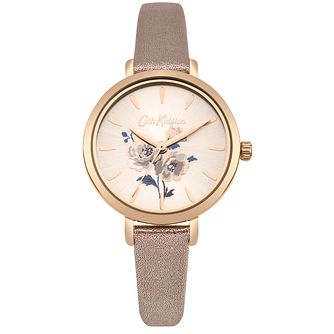 Cath Kidston Ladies' Metallic Rose Gold Strap Watch - Product number 4166221