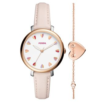 Fossil Jacqueline Ladies' Rose Gold Tone Strap Watch - Product number 4166728