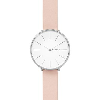 Skagen Karolina Ladies' Stainless Steel Pink Strap Watch - Product number 4167163