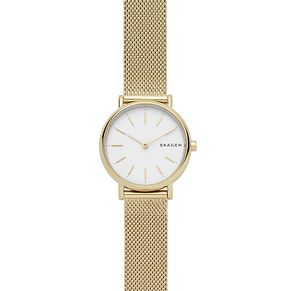 Skagen Signatur Ladies' Yellow Gold Tone Bracelet Watch - Product number 4167449