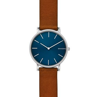 Skagen Hagen Men's Stainless Steel Blue Dial Strap Watch - Product number 4168089