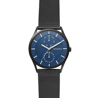Skagen Holst Men's Blue Dial Mesh Bracelet Watch - Product number 4168100