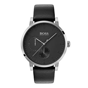 Hugo Boss Oxygen Men's Black Strap Watch - Product number 4168348