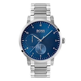Hugo Boss Oxygen Men's Blue Dial Bracelet Watch - Product number 4168429