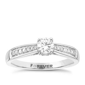 18ct White Gold 2/5 Carat Forever Diamond Ring - Product number 4169212