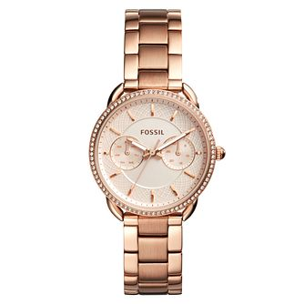 Fossil Tailor Ladies' Rose Gold Tone Bracelet Watch - Product number 4170253